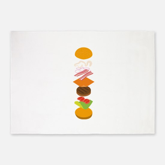 The perfect burger 5'x7'Area Rug