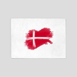 Denmark Flag Danmark 5'x7'Area Rug