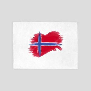 Svalbard Flag 5'x7'Area Rug