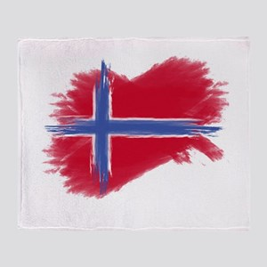 Svalbard Flag Throw Blanket