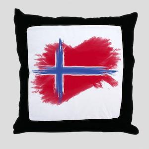 Svalbard Flag Throw Pillow