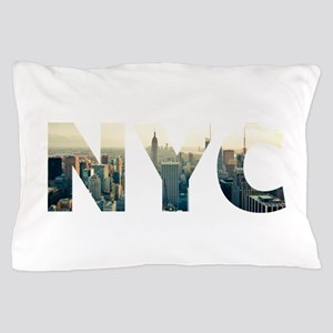 NYC for NEW YORK CITY - Typo Pillow Case