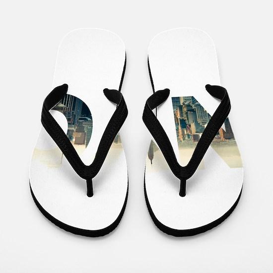 NYC for NEW YORK CITY - Typo Flip Flops