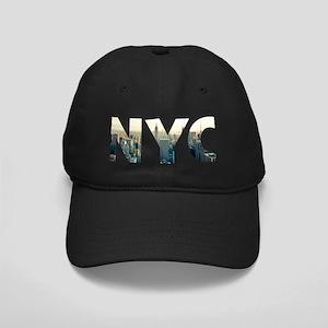 NYC for NEW YORK CITY - Typo Black Cap