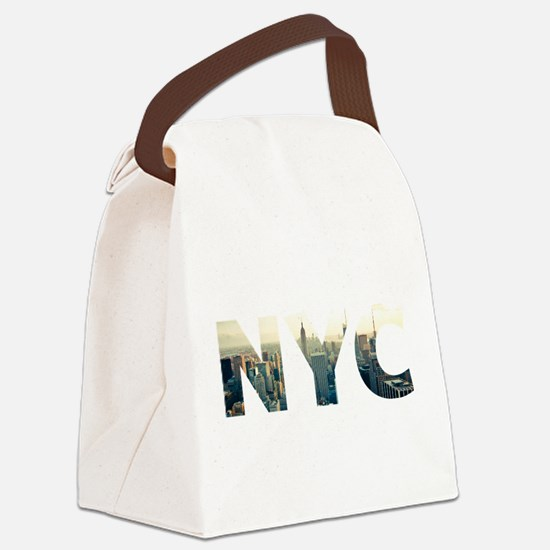 NYC for NEW YORK CITY - Typo Canvas Lunch Bag