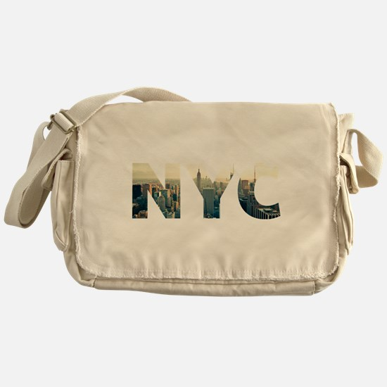 NYC for NEW YORK CITY - Typo Messenger Bag