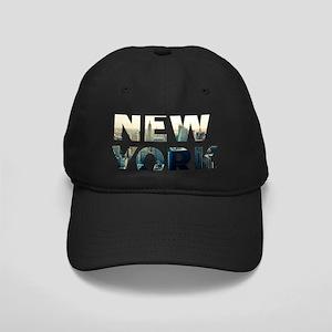 New York - Sunset - Typo Black Cap