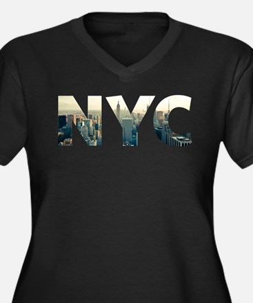 NYC for NEW YORK CITY - Typo Plus Size T-Shirt
