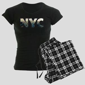 NYC for NEW YORK CITY - Typo Women's Dark Pajamas