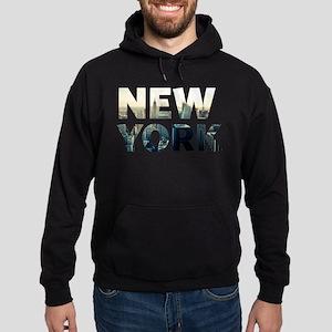 New York - Sunset - Typo Hoodie (dark)