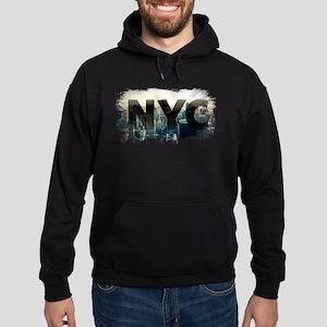 New York City - Sunset - Typo - NYC Hoodie (dark)