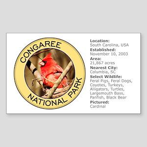 Congaree NP (Cardinal) Rectangle Sticker