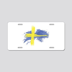 Sweden Flag Stockholm Aluminum License Plate