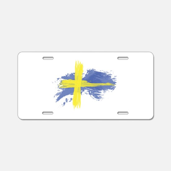 Sweden Flag Stockholm Aluminum License Plate