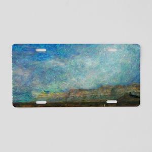 Ridge Impressionistic Aluminum License Plate