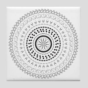 Psychedelics #3 Skulls Tile Coaster