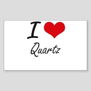 I Love Quartz Sticker
