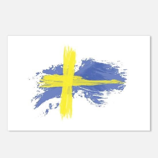 Sweden Flag Stockholm Postcards (Package of 8)