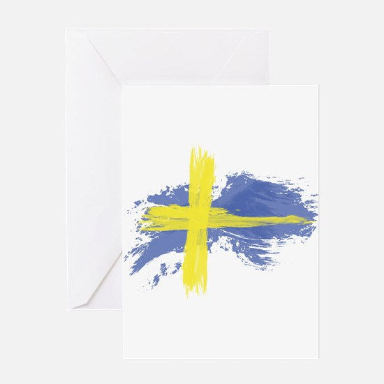 Sweden Flag Stockholm Greeting Cards