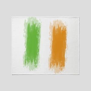 Ireland Flag Dublin Flag Throw Blanket