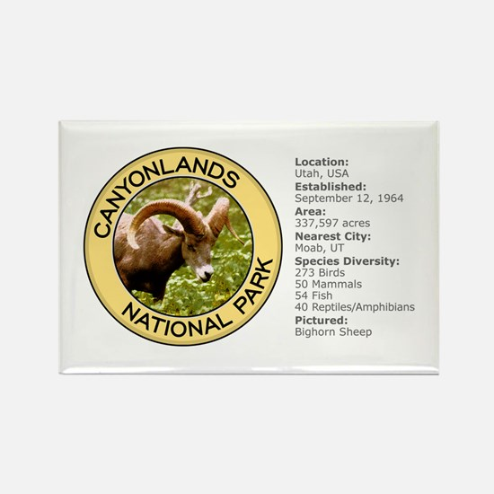 Canyonlands NP (Bighorn Sheep) Rectangle Magnet