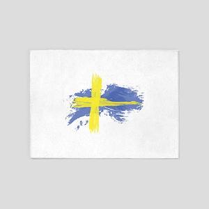 Sweden Flag Stockholm 5'x7'Area Rug