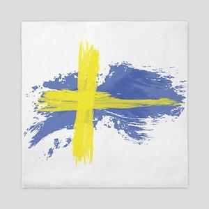 Sweden Flag Stockholm Queen Duvet