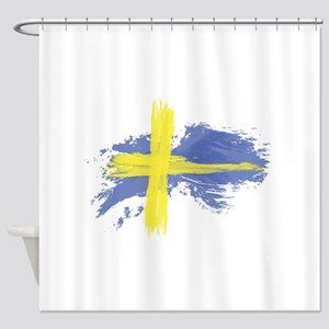 Sweden Flag Stockholm Shower Curtain