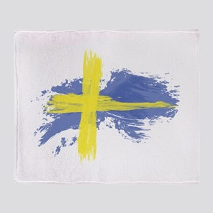 Sweden Flag Stockholm Throw Blanket