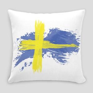 Sweden Flag Stockholm Everyday Pillow