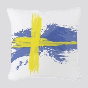 Sweden Flag Stockholm Woven Throw Pillow