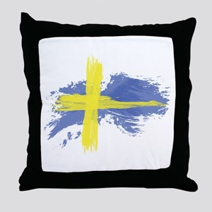 Sweden Flag Stockholm Throw Pillow