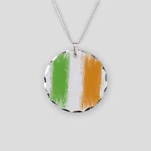 Ireland Flag Dublin Flag Necklace Circle Charm
