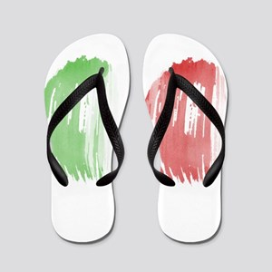 Italy Flag Flip Flops