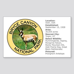 Bryce Canyon NP (Pronghorn Antelope) Sticker (Rect