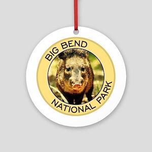 Big Bend NP (Javelina) Ornament (Round)