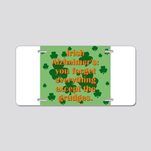 Irish Alzheimers Aluminum License Plate