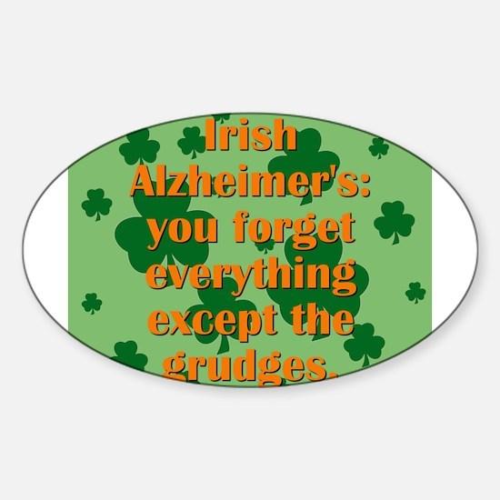 Irish Alzheimers Sticker (Oval)