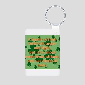 An Irish Family Aluminum Photo Keychain