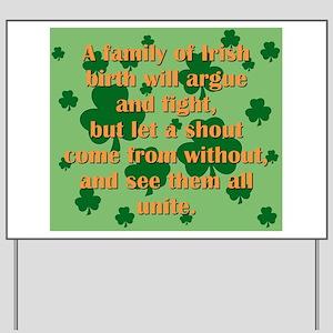 An Irish Family Yard Sign