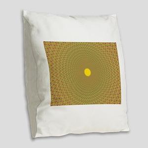 Eye Cancer Burlap Throw Pillow