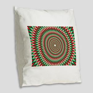 Eye Cancer #2 Burlap Throw Pillow