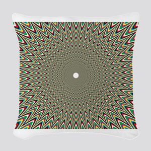Psychedelics #2 Moving Picture Woven Throw Pillow