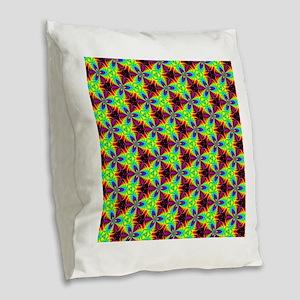 Psychedelics #8 radioactive Burlap Throw Pillow