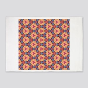 Colorful Sky Roses Floral Flowers 5'x7'Area Rug