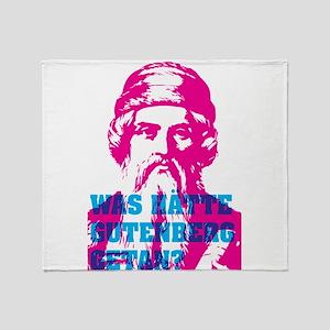 Was hätte Gutenberg getan? Throw Blanket