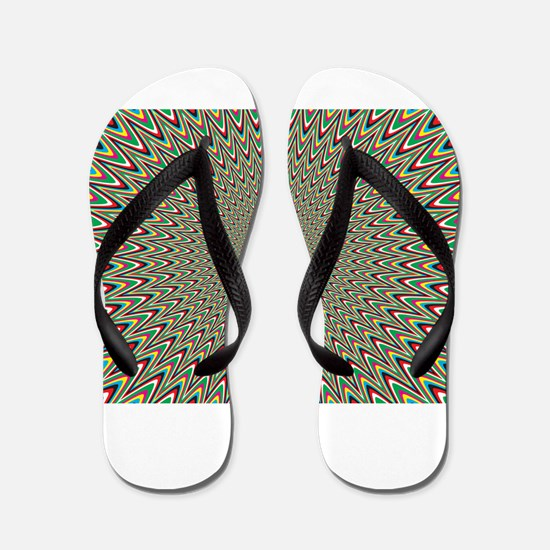Psychedelics #2 Moving Picture Flip Flops