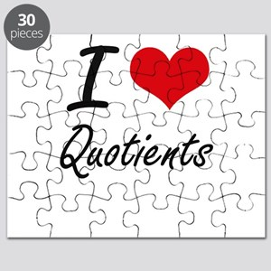 I Love Quotients Puzzle