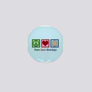 Peace Love Neurology Mini Button
