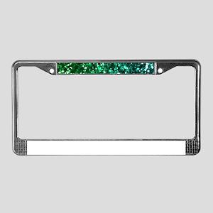 Emerald Glitter License Plate Frame